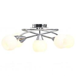 stradeXL Lampa sufitowa z ceramicznymi kloszami na 5 żarówek E14