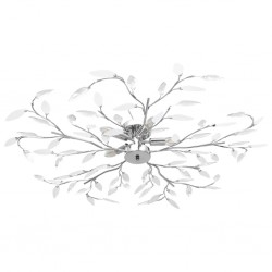 stradeXL Lampa sufitowa, listki z kryształu akrylowego, 5 żarówek E14
