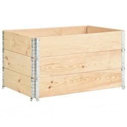 stradeXL Podniesione grządki, 3 szt., 50x100 cm, lite drewno sosnowe