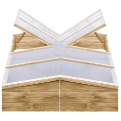 stradeXL Inspekty, 2 szt., impregnowane drewno sosnowe, 200x50x35 cm