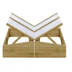 stradeXL Inspekty, 2 szt., impregnowane drewno sosnowe, 100x50x35 cm