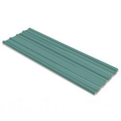 stradeXL Panele dachowe ze stali galwanizowanej, 12 szt., zielone