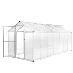 stradeXL Greenhouse Aluminium 421x190x195 cm 15.6 m³