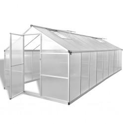 stradeXL Greenhouse Aluminium 481x250x195 cm 23.44 m³