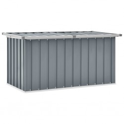 stradeXL Skrzynia ogrodowa do przechowywania, szara, 129x67x65 cm