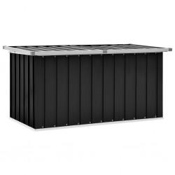 stradeXL Skrzynia ogrodowa do przechowywania, antracytowa, 129x67x65 cm
