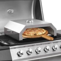 stradeXL Piec do pizzy z kamieniem, na grill gazowy lub węglowy