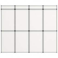 stradeXL 12-panelowa, składana ścianka wystawiennicza, 242x200 cm, biała