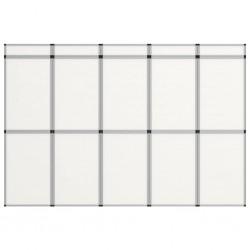stradeXL 15-panelowa, składana ścianka wystawiennicza, 302x200 cm, biała