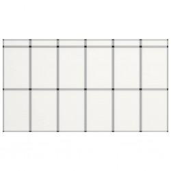 stradeXL 18-panelowa, składana ścianka wystawiennicza, 362x200 cm, biała