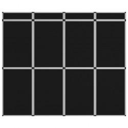 stradeXL 12-panelowa składana ścianka wystawiennicza, 242x200 cm, czarna