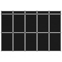 stradeXL 15-panelowa składana ścianka wystawiennicza, 302x200 cm, czarna