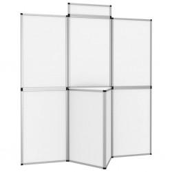 stradeXL 8-panelowa ścianka wystawiennicza ze stolikiem 181x200 cm biała
