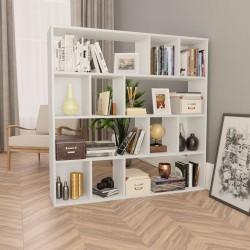 stradeXL Przegroda/regał na książki, biały, 110x24x110 cm, płyta wiórowa