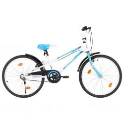stradeXL Rower dla dzieci, 24 cale, niebiesko-biały