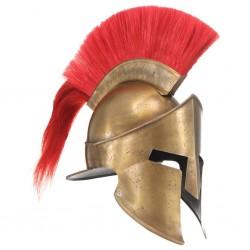 stradeXL Replika zabytkowego hełmu greckiego, LARP, stal, kolor mosiądzu