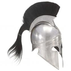 stradeXL Replika zabytkowego hełmu greckiego żołnierza LARP srebrna stal