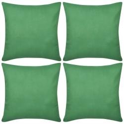 4 Zielone bawełniane poszewki na poduszki 40 x 40 cm