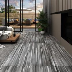 stradeXL Panele podłogowe PVC, 5,02 m², 2 mm, samoprzylepne, szare paski