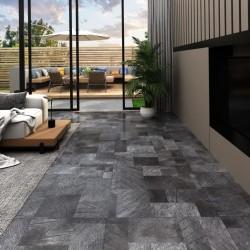 stradeXL Panel podłogowy PVC samoprzylepny, 5,11 m², drewnopodobny szary