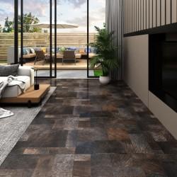 stradeXL Panel podłogowy PVC samoprzylepny, 5,11 m², drewnopodobny brąz