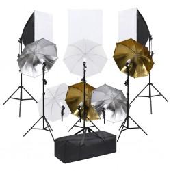 stradeXL Studyjny zestaw fotograficzny z oświetleniem i softboxami
