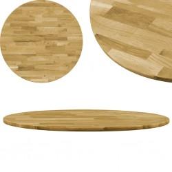 stradeXL Okrągły blat do stolika z litego drewna dębowego, 23 mm, 800 mm