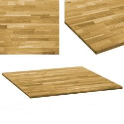 stradeXL Kwadratowy blat do stolika z drewna dębowego, 23 mm, 80 x 80 cm