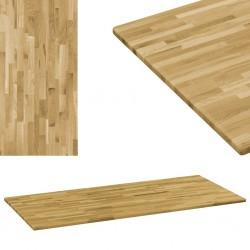 stradeXL Prostokątny blat do stolika z drewna dębowego, 23 mm, 120x60 cm