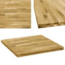 stradeXL Kwadratowy blat do stolika z drewna dębowego, 44 mm, 70 x 70 cm