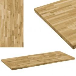 stradeXL Prostokątny blat do stolika z drewna dębowego, 44 mm, 140x60 cm