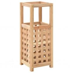 stradeXL Umbrella Stand Solid Walnut Wood 18x18x50 cm