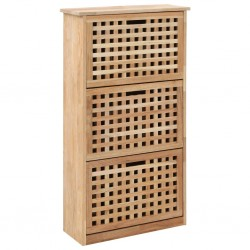 stradeXL Szafka na buty, 55x20x104 cm, lite drewno orzecha włoskiego