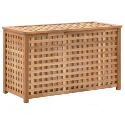 stradeXL Skrzynia na pranie, 77,5x37,5x46,5 cm, lite drewno orzechowe