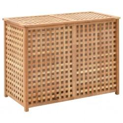 stradeXL Kosz na pranie, 87,5x46x67 cm, lite drewno orzechowe