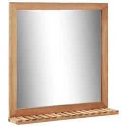 stradeXL Lustro łazienkowe, 60x12x62 cm, z ramą z drewna orzechowego