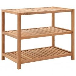 stradeXL Półka łazienkowa z drewna orzechowego, 65x40x55 cm