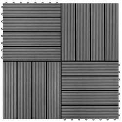 stradeXL Płytki tarasowe, 22 szt., 30 x 30 cm, 2 m², WPC, szare