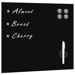 stradeXL Wall Mounted Magnetic Board Glass 40x40 cm