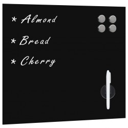 stradeXL Wall Mounted Magnetic Board Glass 60x60 cm