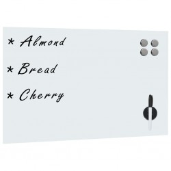 stradeXL Wall Mounted Magnetic Board Glass 50x30 cm