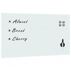 stradeXL Wall Mounted Magnetic Board Glass 120x60 cm