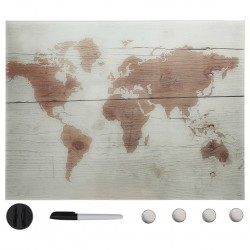 stradeXL Wall Mounted Magnetic Board Glass 80x60 cm