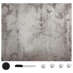 stradeXL Ścienna tablica magnetyczna, szklana, 60 x 60 cm