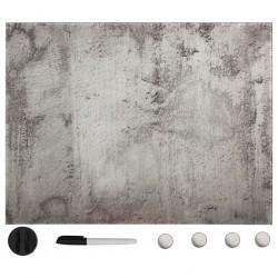 stradeXL Ścienna tablica magnetyczna, szklana, 80 x 60 cm