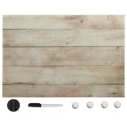 stradeXL Wall Mounted Magnetic Board Glass 60x40 cm