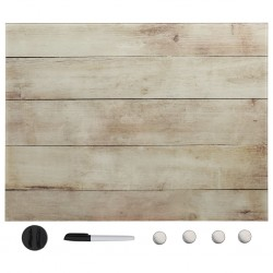 stradeXL Wall Mounted Magnetic Board Glass 60x80 cm