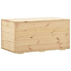 stradeXL Skrzynia, 100x54x50,7 cm, lite drewno sosnowe