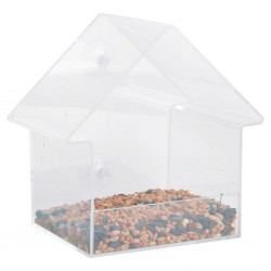 Esschert Design Acrylic Window Feeder House 15x10x15.3 cm FB370