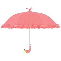 Esschert Design Parasolka z falbaną Flamingo, 98 cm, różowa, TP203